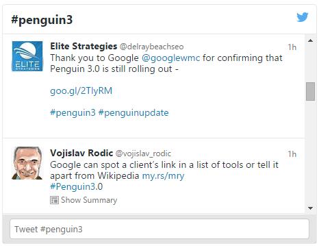 Penguin3.0 Twitter