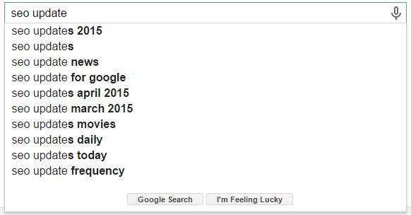 SEO Update Google Search