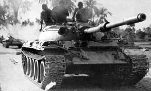 Indian T-55 tanks on their way